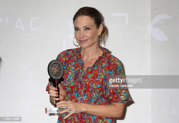 Claire Forlani attends the Filming Italy Sardegna Festival 2019 Day 2 at Forte Village Resort on June 14 2019 in Cagliari Italy