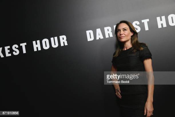 Claire Forlani attends the Premiere Of Focus Features' Darkest Hour at Samuel Goldwyn Theater on November 8 2017 in Beverly Hills California
