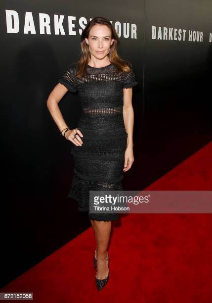 Claire Forlani attends the premiere of Focus Features 'Darkest Hour' at Samuel Goldwyn Theater on November 8 2017 in Beverly Hills California
