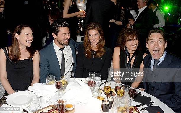 Claire Forlani Dominic Cooper Cindy Crawford Chrissie Hynde and Dougray Scott attend a private dinner celebrating the opening of the OMEGA Oxford...