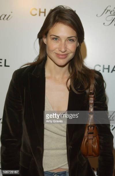 Claire Forlani during Frederic Fekkai/Chanel Oscar Suite Day Three at Frederic Fekkai Salon in Beverly Hills California United States