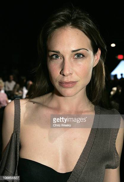 Claire Forlani during MercedesBenz Fall 2005 Fashion Week at Smashbox Studios Pegah Anvarian Front Row at Smashbox Studios in Culver City California...