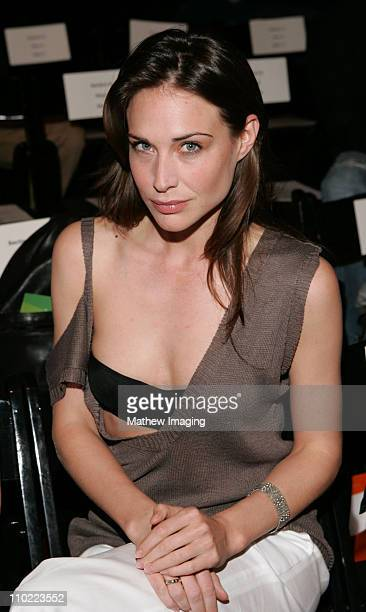 Claire Forlani during MercedesBenz Fall 2005 LA Fashion Week at Smashbox Studios Pegah Anvarian Runway at Smashbox Studios in Culver City California...