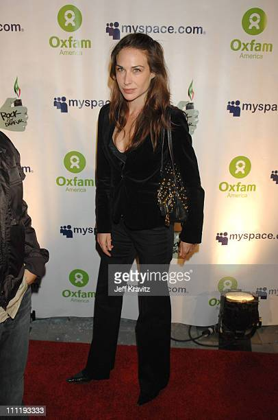 Claire Forlani during MySpace Presents Rock for Darfur Party Benefiting Oxfam America at Private Estate in Beverly Hills California United States