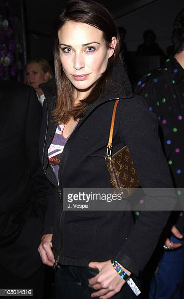 Claire Forlani during Rolling Stones Host Fashion And Licks 2002 Backstage and Show at Beverly Hills Hilton in Beverly Hills California United States