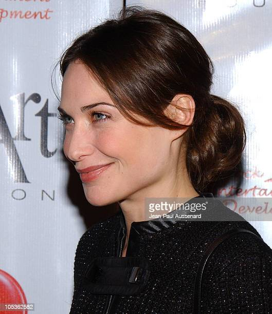 Claire Forlani during The First Annual Red Party To Benefit The Life Through Art Foundation at Private residence in Holmby Hills California United...