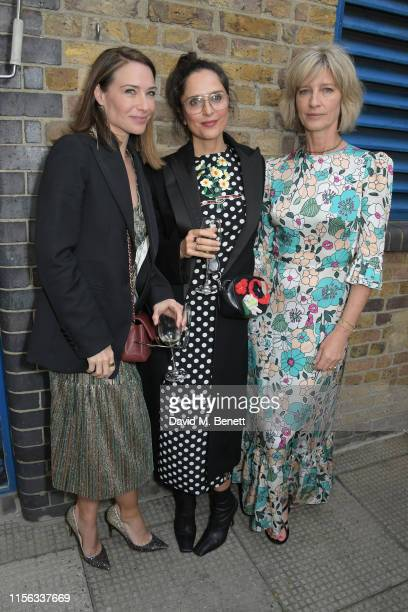 Claire Forlani, Guest and Nicola Formby attend The Sunday Times AA Gill Award for emerging food critics at The River Cafe on June 16, 2019 in London,...