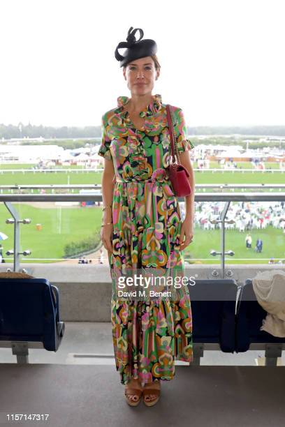 Claire Forlani on day 3 of Royal Ascot at Ascot Racecourse on June 20 2019 in Ascot England