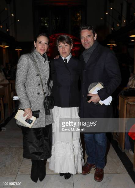 Claire Forlani Rachel Fuller and Dougray Scott attend Animal Requiem A Concert To Celebrate Honour All Animals by Rachel Fuller at St James' Church...