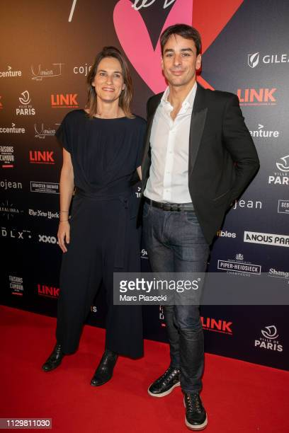 Claire Fournier and Julian Bugier attend the 'Par Amour' charity gala at Mairie de Paris on February 14 2019 in Paris France