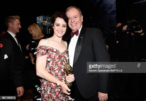 Claire Foy and David Foy at the 2017 AMD British Academy Britannia Awards Presented by American Airlines And Jaguar Land Rover at The Beverly Hilton...