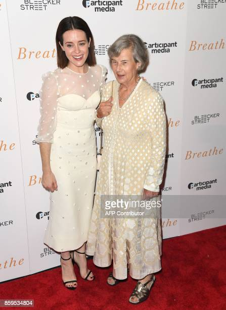 Claire Foy and Diana Cavendish attend the New York special screening 'Breathe' at AMC Loews Lincoln Square 13 theater on October 9, 2017 in New York...