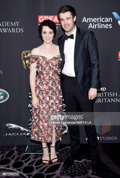 Claire Foy and Jack Whitehall attends the 2017 AMD British Academy Britannia Awards Presented by American Airlines And Jaguar Land Rover at The...