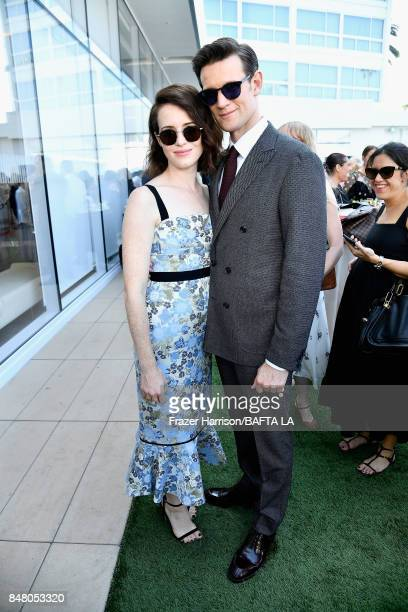 Claire Foy and Matt Smith attend the BBC America BAFTA Los Angeles TV Tea Party 2017 at The Beverly Hilton Hotel on September 16 2017 in Beverly...