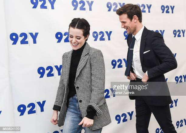 Claire Foy and Matt Smith attend the screening of 'The Crown' at 92nd Street Y on December 4 2017 in New York City
