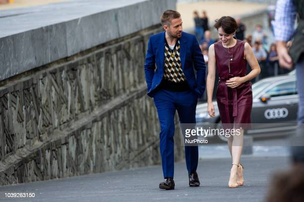 Claire Foy and Ryan Gosling attend the 'First Man' photocall during the 66th San Sebastian International Film Festival on September 24 2018 in San...
