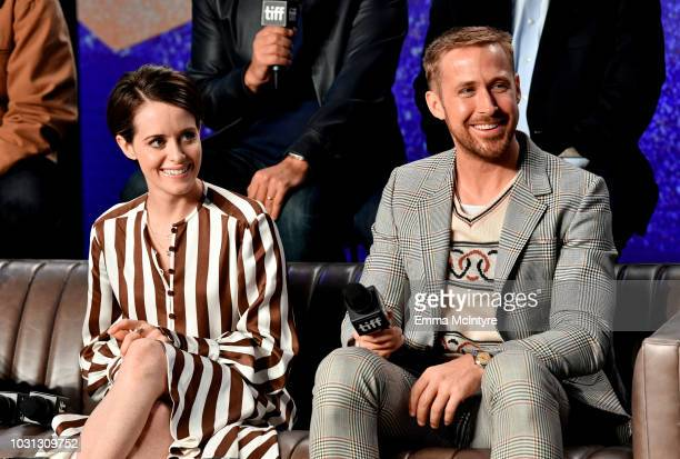 Claire Foy and Ryan Gosling attend the First Man press conference during 2018 Toronto International Film Festival at TIFF Bell Lightbox on September...