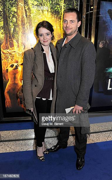 Claire Foy and Stephen Campbell Moore attend the UK Premiere of 'Life of Pi' at Empire Leicester Square on December 3 2012 in London England