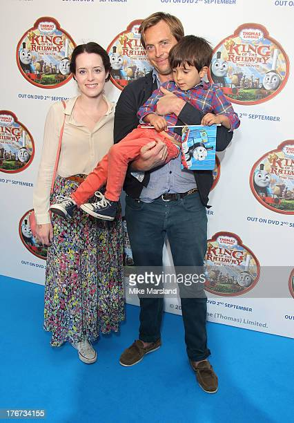 Claire Foy and Stephen Campbell Moore attend VIP Screening of Thomas Friends King Of The Railway at Vue Leicester Square on August 18 2013 in London...
