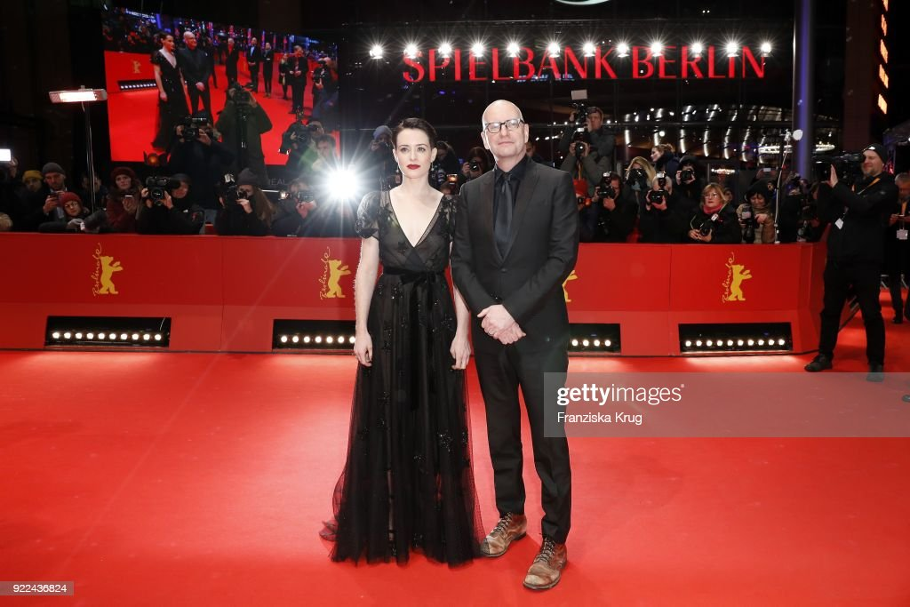 Claire Foy and Steven Soderbergh attend the 'Unsane' premiere during the 68th Berlinale International Film Festival Berlin at Berlinale Palast on February 21, 2018 in Berlin, Germany.