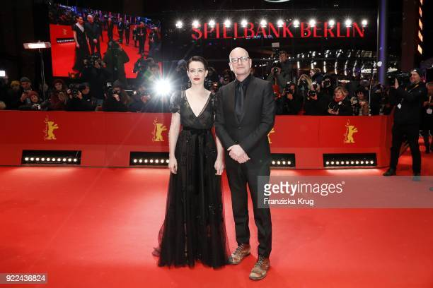 Claire Foy and Steven Soderbergh attend the 'Unsane' premiere during the 68th Berlinale International Film Festival Berlin at Berlinale Palast on...