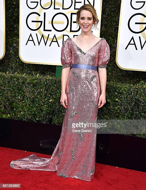 Claire Foy arrives at the 74th Annual Golden Globe Awards at The Beverly Hilton Hotel on January 8 2017 in Beverly Hills California