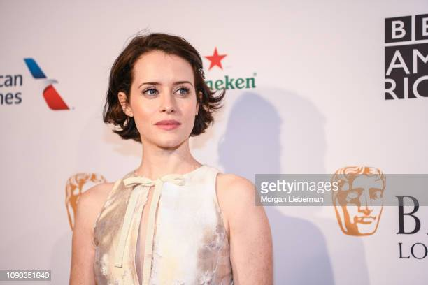 Claire Foy arrives at the BAFTA Los Angeles Tea Party at the Four Seasons Hotel Los Angeles in Beverly Hills on January 05, 2019 in Los Angeles,...