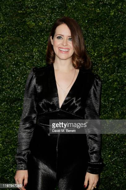 Claire Foy arrives at the Charles Finch & CHANEL Pre-BAFTA Party at 5 Hertford Street on February 1, 2020 in London, England.