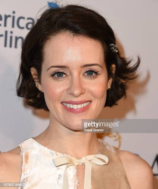 Claire Foy arrives at the The BAFTA Los Angeles Tea Party at Four Seasons Hotel Los Angeles at Beverly Hills on January 5 2019 in Los Angeles...