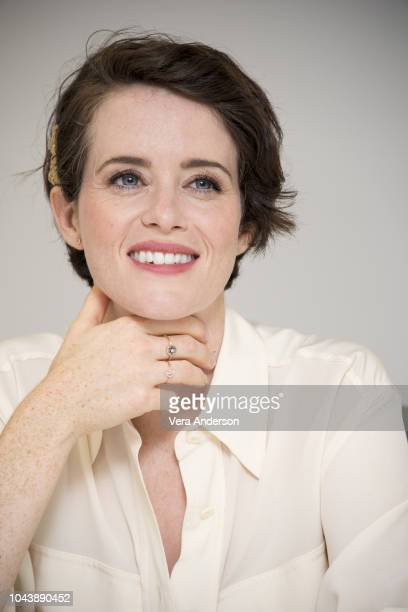 Claire Foy at the First Man Press Conference at the Kennedy Space Center on September 29 2018 on Cape Canaveral Florida