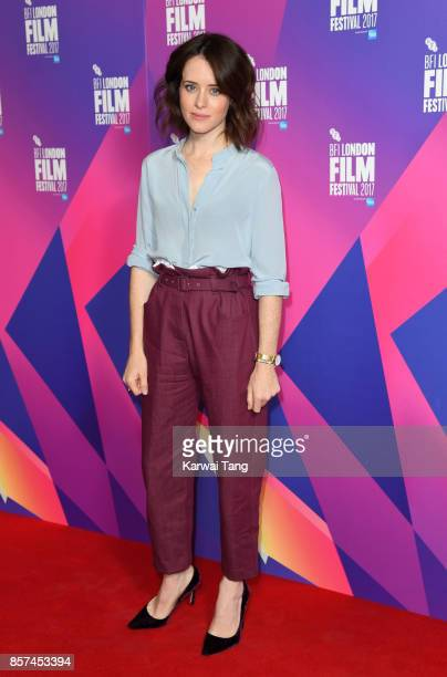 Claire Foy attends a photocall for Breathe during the 61st BFI London Film Festival at the May Fair Hotel on October 4 2017 in London England