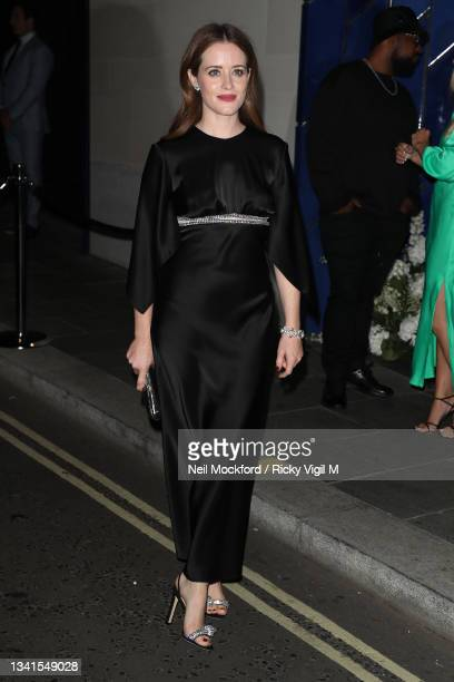 Claire Foy attends an intimate dinner and party hosted by British Vogue and Tiffany & Co. To celebrate Fashion and Film during London Fashion Week...