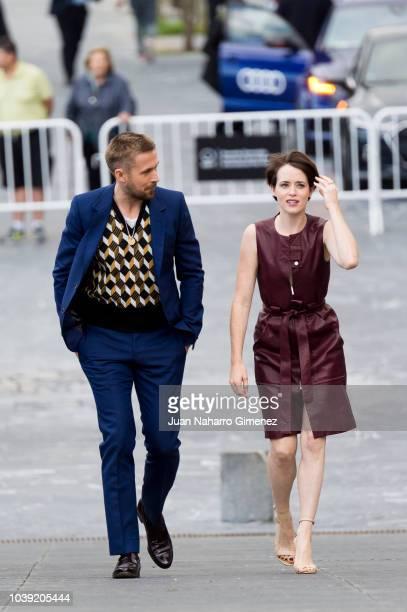 Claire Foy attends 'First Man' photocall during 66th San Sebastian Film Festival on September 24 2018 in San Sebastian Spain