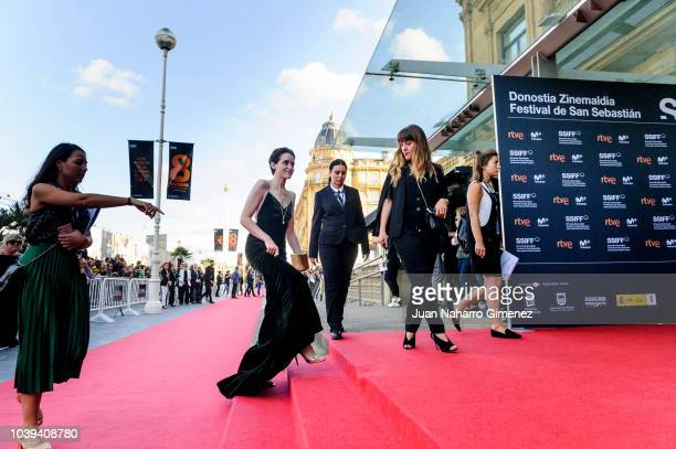 Claire Foy attends 'First Man' premiere during 66th San Sebastian International Film Festival at Victoria Eugenia Theater on September 24, 2018 in...