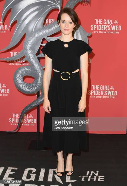 Claire Foy attends 'Girl In The Spider's Web' Photo Call at Sony Pictures Studios on September 18 2018 in Culver City California