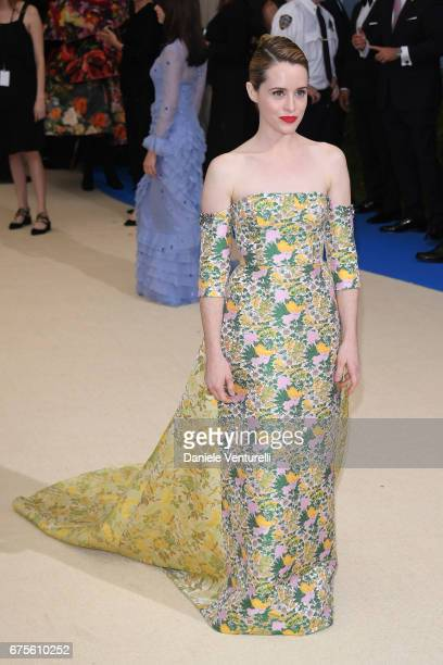 Claire Foy attends 'Rei Kawakubo/Comme des Garcons Art Of The InBetween' Costume Institute Gala Arrivals at Metropolitan Museum of Art on May 1 2017...