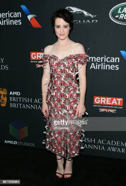 Claire Foy attends the 2017 AMD British Academy Britannia Awards presented by Jaguar Land Rover and American Airlines on October 28 2017 in Los...