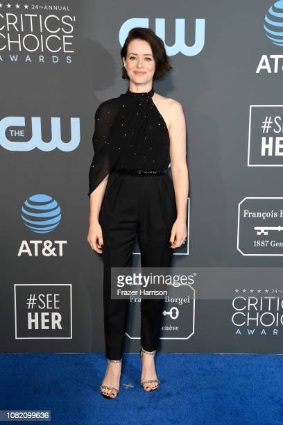Claire Foy attends the 24th annual Critics' Choice Awards at Barker Hangar on January 13 2019 in Santa Monica California