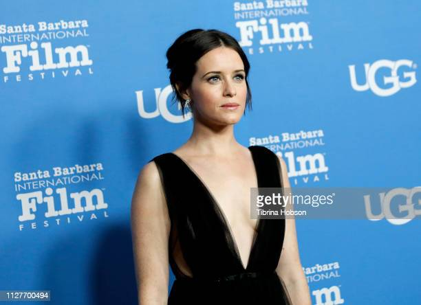Claire Foy attends the 34th annual Santa Barbara International Film Festival Virtuosos Award Ceremony at Arlington Theater on February 05, 2019 in...