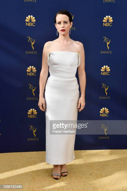Claire Foy attends the 70th Emmy Awards at Microsoft Theater on September 17 2018 in Los Angeles California