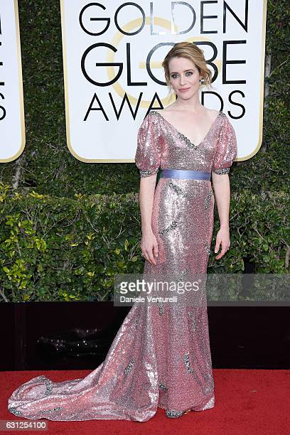 Claire Foy attends the 74th Annual Golden Globe Awards at The Beverly Hilton Hotel on January 8 2017 in Beverly Hills California
