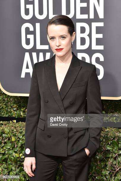 Claire Foy attends the 75th Annual Golden Globe Awards Arrivals at The Beverly Hilton Hotel on January 7 2018 in Beverly Hills California