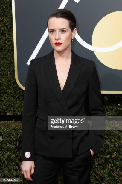 Claire Foy attends The 75th Annual Golden Globe Awards at The Beverly Hilton Hotel on January 7 2018 in Beverly Hills California