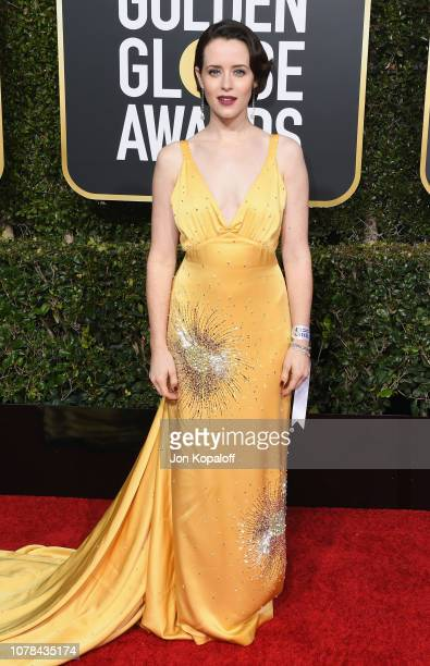 Claire Foy attends the 76th Annual Golden Globe Awards at The Beverly Hilton Hotel on January 6 2019 in Beverly Hills California