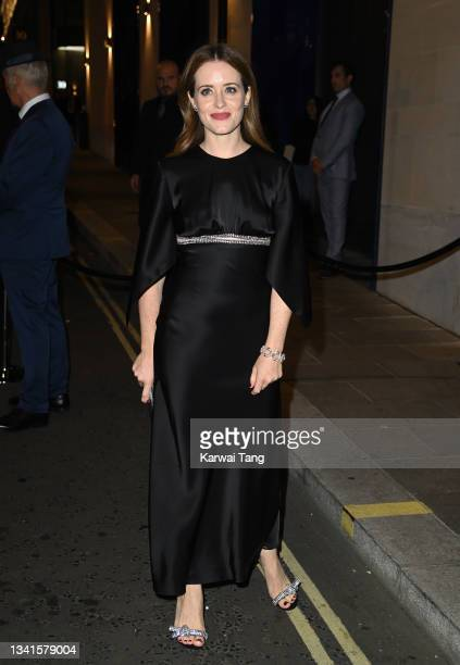 Claire Foy attends the British Vogue x Tiffany & Co. Fashion and Film party at The Londoner Hotel on September 20, 2021 in London, England.