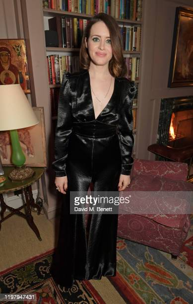 Claire Foy attends the Charles Finch & CHANEL Pre-BAFTA Party at 5 Hertford Street on February 1, 2020 in London, England.