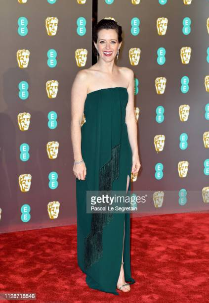 Claire Foy attends the EE British Academy Film Awards at Royal Albert Hall on February 10 2019 in London England