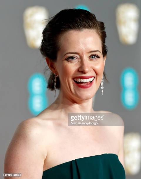 Claire Foy attends the EE British Academy Film Awards at the Royal Albert Hall on February 10, 2019 in London, England.