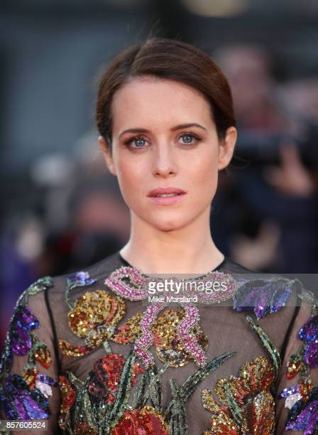 Claire Foy attends the European Premiere of Breathe on the opening night gala of the 61st BFI London Film Festival on October 4 2017 in London England