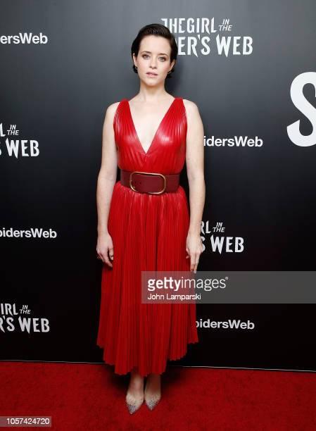 Claire Foy attends The Girl In The Spider's Web New York screening at Henry Luce Theater on November 4 2018 in New York City
